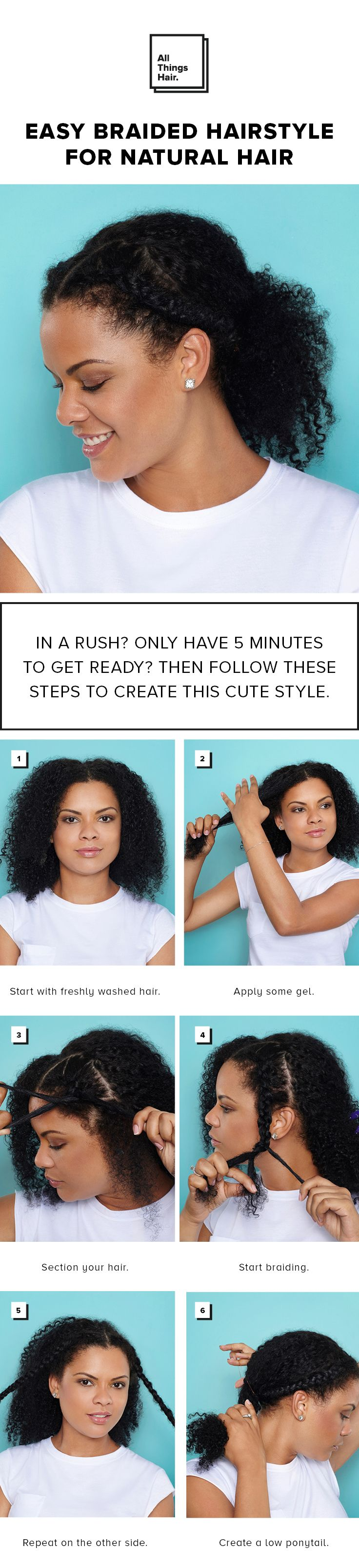 17 best team natural hair images on pinterest hairstyles 6 simple steps to create this cute and easy natural hairstyle perfect for those days you find yourself in a rush solutioingenieria Images