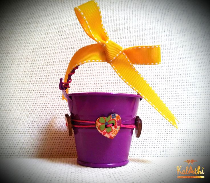 Purple tin can with wooden hearts by KalAthi photo © KalAthi