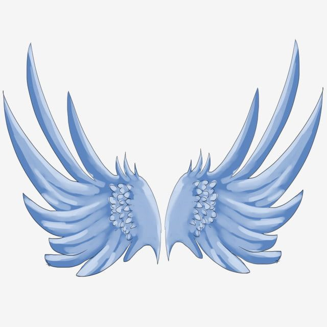 Beautiful Wings Hand Drawn Wings Cartoon Wings Wing Decoration Wings Illustration Blue Wings Flying Wings Png Transparent Clipart Image And Psd File For Free Cartoon Wings How To Draw Hands Wings