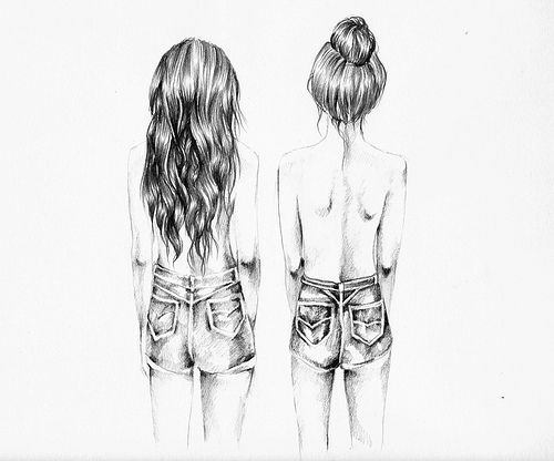 desenho de cabelo de costas - Pesquisa Google