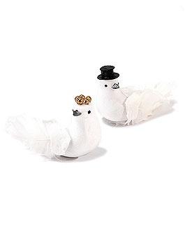 mini bride and groom birds for a love bird wedding , $7.98  love bird wedding ideas, love bird wedding decorations