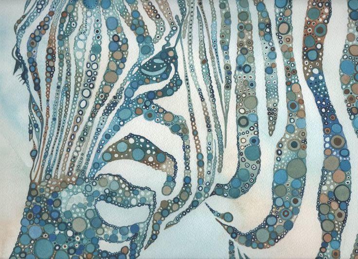 Zebra in Fragments by tamaraphillips on DeviantArt