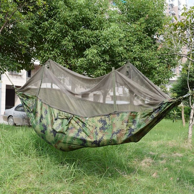 Army Green Hammock With Mosquito Nets - Camping & Fishing Outlet