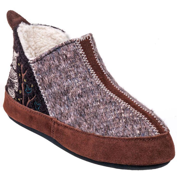 Acorn Slippers Women's A10079 CHO Brown Sherpa Fleece Non-Slip Slipper