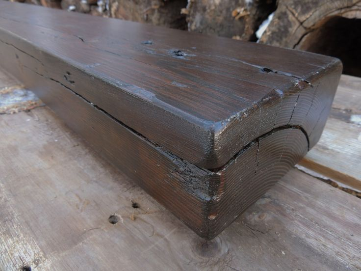 Reclaimed Wood Mantel - Rustic Cedar Fireplace Mantel or Mantle Shelf(96 x 7-1/4 x 3-1/2) - Handcrafted By Harvestbilt by Harvestbilt on Etsy