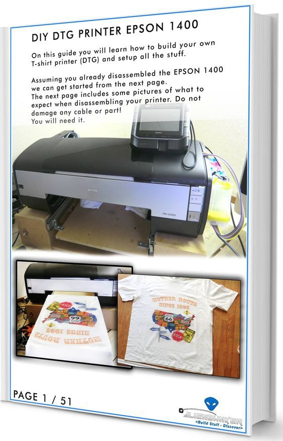 Diy t-shirt printer epson 1400 step by plans - e-book