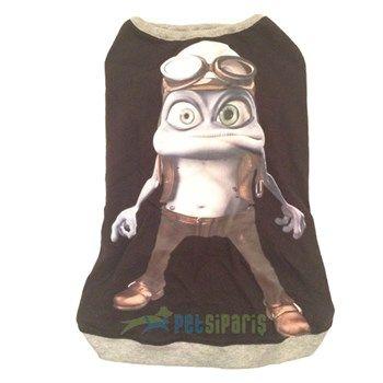 Pet Style Frog Kedi Köpek Tişörtü