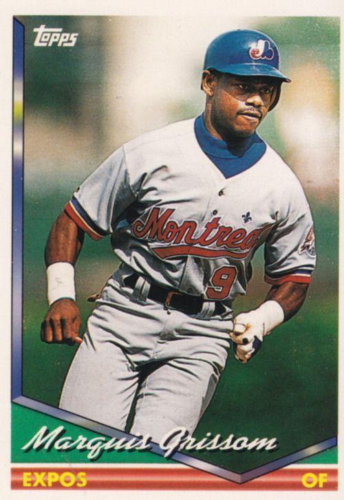 Random Baseball Card 4255 Marquis Grissom Outfielder Montreal