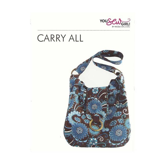 You Sew Girl  Carry All Bag Pattern by CurlyPops on Etsy, $24.20