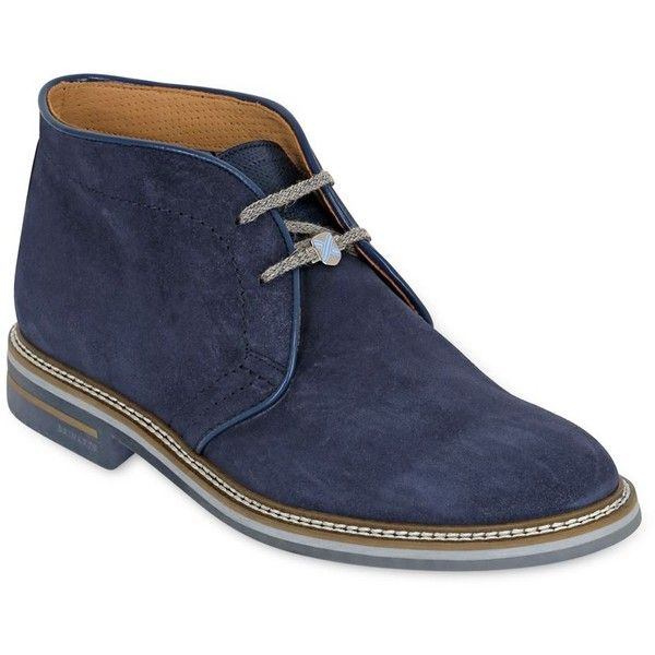 Brimarts Men Suede Chukka Boots ($240) ❤ liked on Polyvore featuring men's fashion, men's shoes, men's boots, mens chukka boots, mens suede boots, mens suede shoes, mens shoes and mens perforated shoes