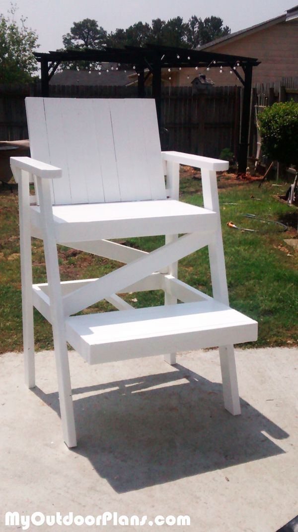 DIY Lifeguard Chair · Free Woodworking PlansWoodworking ProjectsWoodworking  ... Part 55