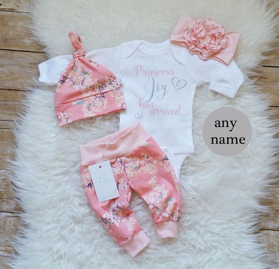 Newborn Baby Girl Outfit Coming Home Outfit by LLPreciousCreations