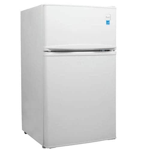 Avanti RA3106 Energy Star 3.1 Cu. Ft. Two Door Compact Refrigerator/Freezer, Clear