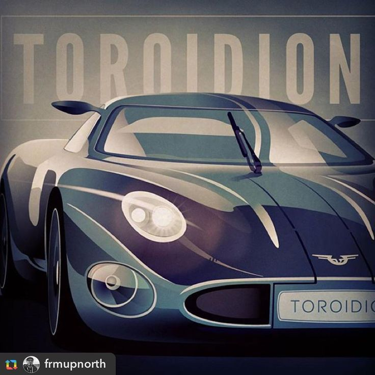 Awesome illustration by @frmupnorth!  We love it! @frmupnorth:Finnish supercar concept Toroidion 1MW.