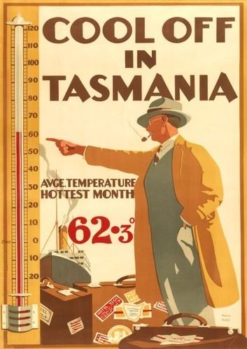 Vintage Tasmanian Travel Poster #tasmania #discovertasmania