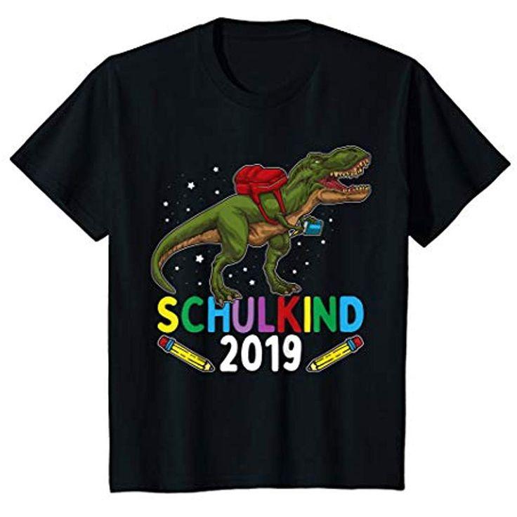 Kinder Einschulung Junge T-Shirt Dinosaurier SCHULKIND 2019 T-Shirt #Bekleidung …