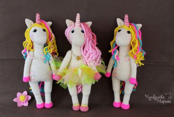 A sweet unicorn PDF crochet toy pattern