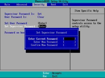 Remove Bios Password