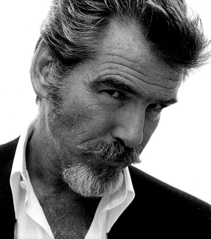Pierce Brosnan is so beautiful that he even looks good with a beard.
