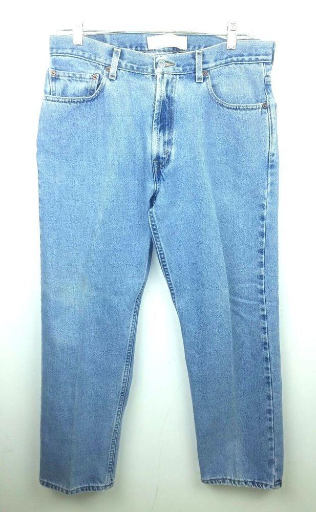 bc309635e2a Levi's 505 Jeans Men's Size 35x30 Regular Fit Light Wash Blue Denim 100%  Cotton #Levis #ClassicStraightLeg