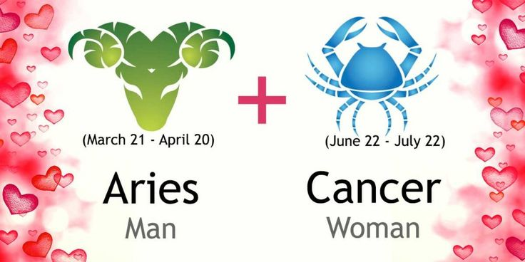 Love match compatibility between Aries man and Cancer woman. Read about the Aries male love relationship with Cancer female.
