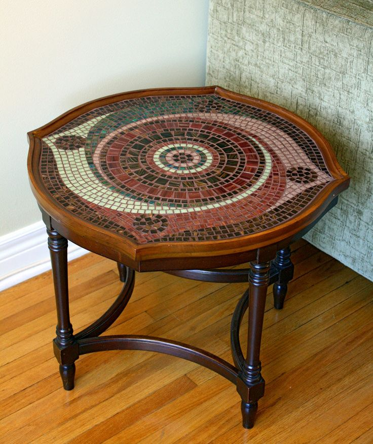 Spiral Mosaic Coffee Table (10% donation to charity). $900.00, via Etsy.
