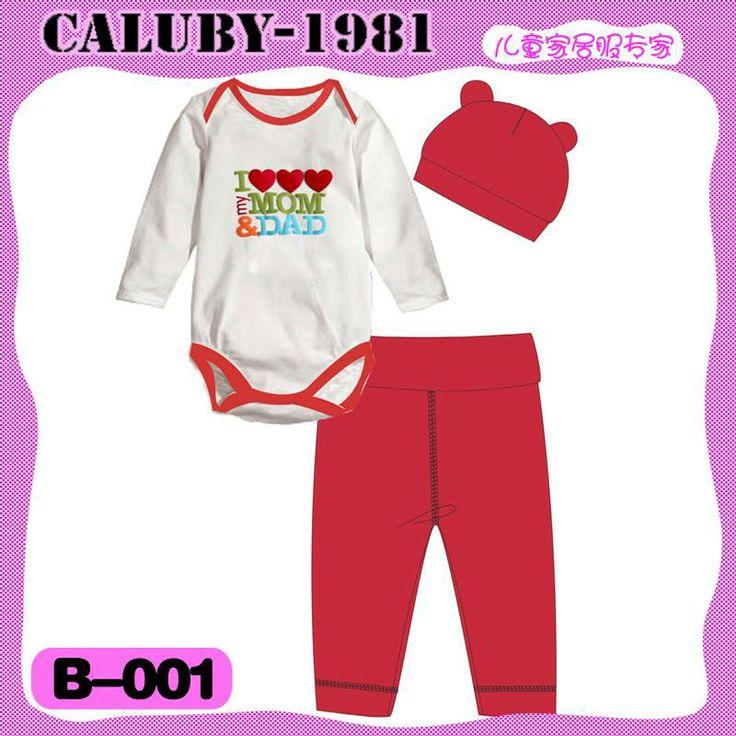 Caluby Baby 3-in-1 jumper I Love Mom&Dad Red  k-babynkids.com   Grosir Perlengkapan Bayi, Aksesoris Bayi, Mainan Bayi