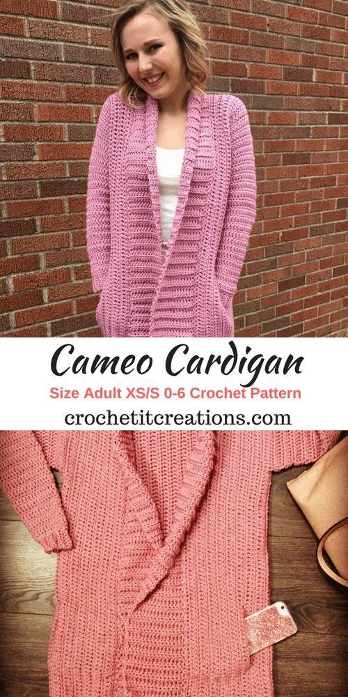 Cameo Cardigan XS/S Crochet Pattern by Crochet It Creations
