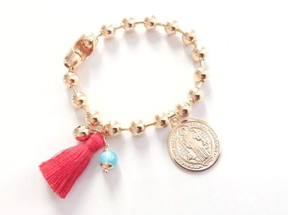 Gold Filled Tassel Bracelet Gold filled Bangle St. by Sifrimania