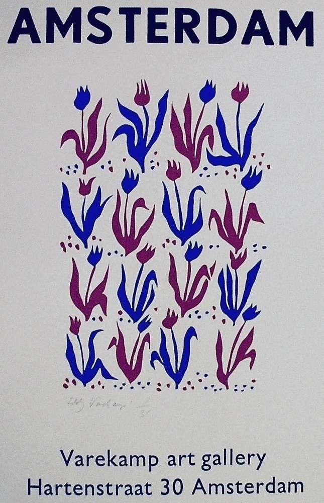 Stencilprint with Letterpress, Tulips