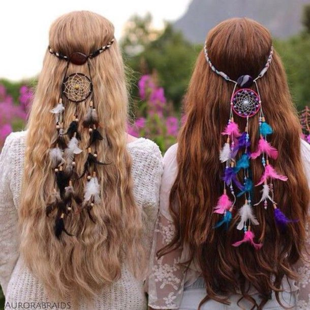 hair accessory dream catcher head piece
