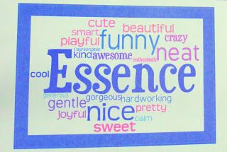 Luckeyfrog's Lilypad: Easy and Cheap End of the Year Gift! Let the class describe each student, and then type it in for a personalized word cloud that automatically makes the most-used words bigger!