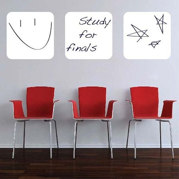 Three Dry Erase Vinyl Wall Decals by trendywalldesigns on Etsy, $24.95