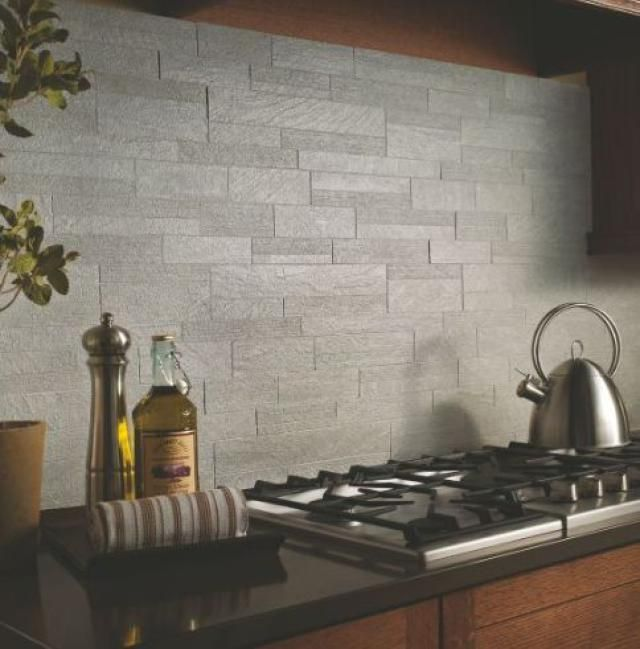 Best Slate Kitchen Backsplash Tiles Images On Pinterest Slate