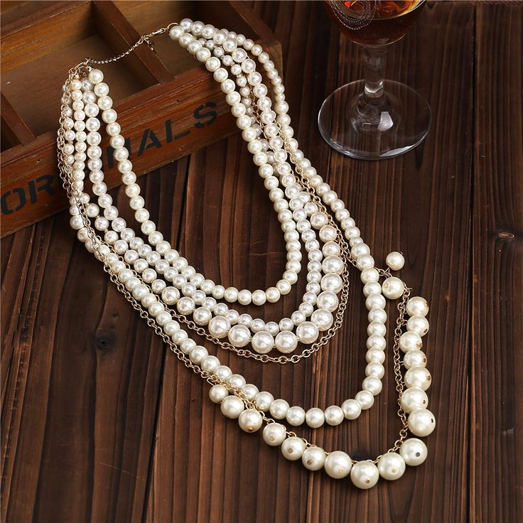 Multilayer Pearl Necklace R203