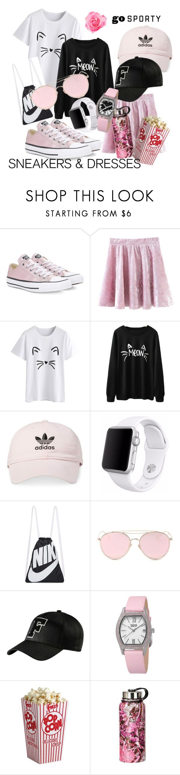 """Pastel tennis shoes )"" by taniaora ❤ liked on Polyvore featuring Converse, adidas, Apple, NIKE, LMNT, Puma and bürgi"