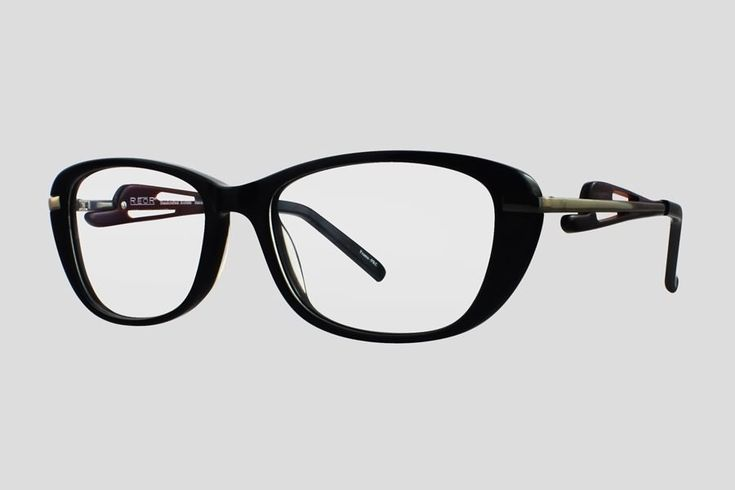 #Brillen van Reor. Dit is de Breedsville (art. nr. F10.704FBL), complete bril vanaf € 34,90. #Montuur van zwart  acetaat en gun metal RVS. Ook verkrijgbaar in het bruin met goudkleurig RVS.