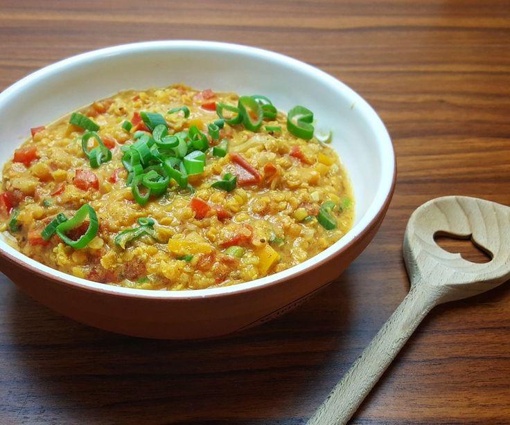 Indischer Linseneintopf, ein tolles Rezept aus der Kategorie Vegetarisch. Bewertungen: 211. Durchschnitt: Ø 4,5.