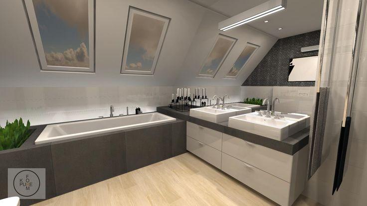 modern gray bathroom http://www.kppureform.pl