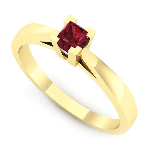 Inel logodna L55GRB Inel cu rubin