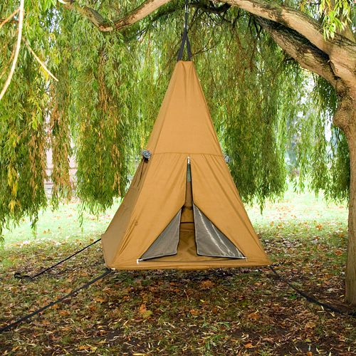 Hanging TreePee camping tent. This would be cute in the back yard for family nights and fun adventures with little ones:) board games and smores.
