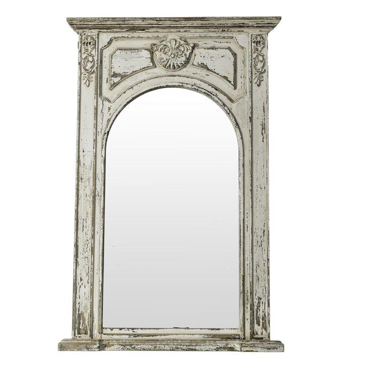 Espejo color blanco envejecido rectangular no os for Espejo blanco envejecido