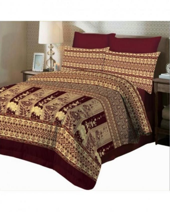 Cotton Animal print King Size Multicolored Luxury Bed sheet with 2 Pillow Covers
