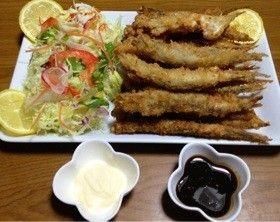 ◆ししゃもフライ◆     フライにすれば 骨までスッポリ! 食べれ ます! (*・ω´)v 安いし♪カルシウムたっぷり(●^_-●) 魚嫌いにも