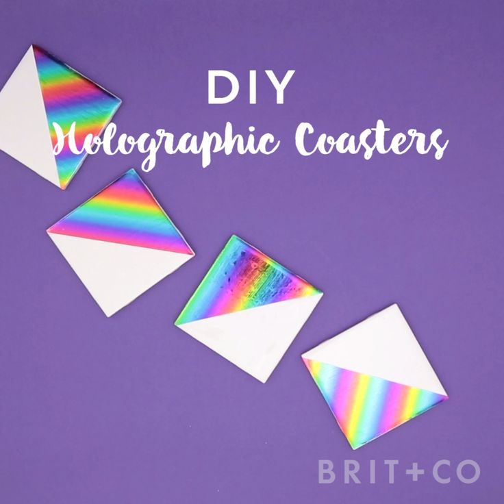 Decorate your tables with a set of holographic coasters by following this easy video DIY tutorial.