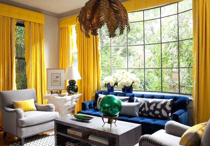 Желтые шторы, или 365 солнечных дней в году - DOMLAVERNA.RU