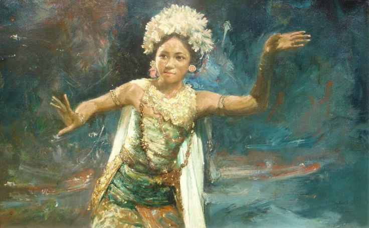 BALINESE ART.....PAINTING.....1962....BY TRUBUS SOEDARSONO.....ON HD…