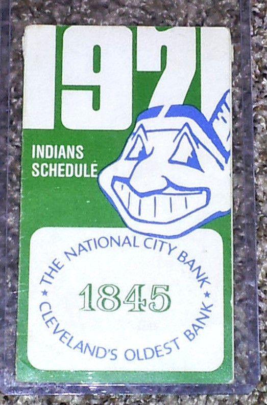 1971 Cleveland Indians Pocket Schedule