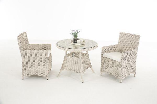 Sitzgruppe Quito Aus Polyrattan Zwei Sessel Und Ein Tisch
