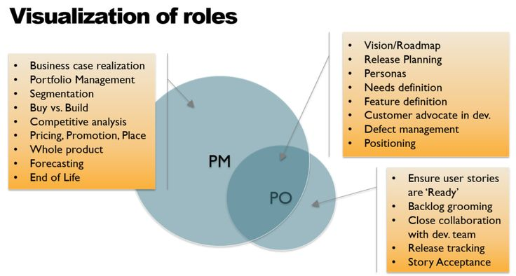 Product Owner vs. Product Manager Role Visualization